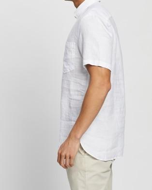 Tommy Hilfiger Linen SS Shirt - Casual shirts (White)
