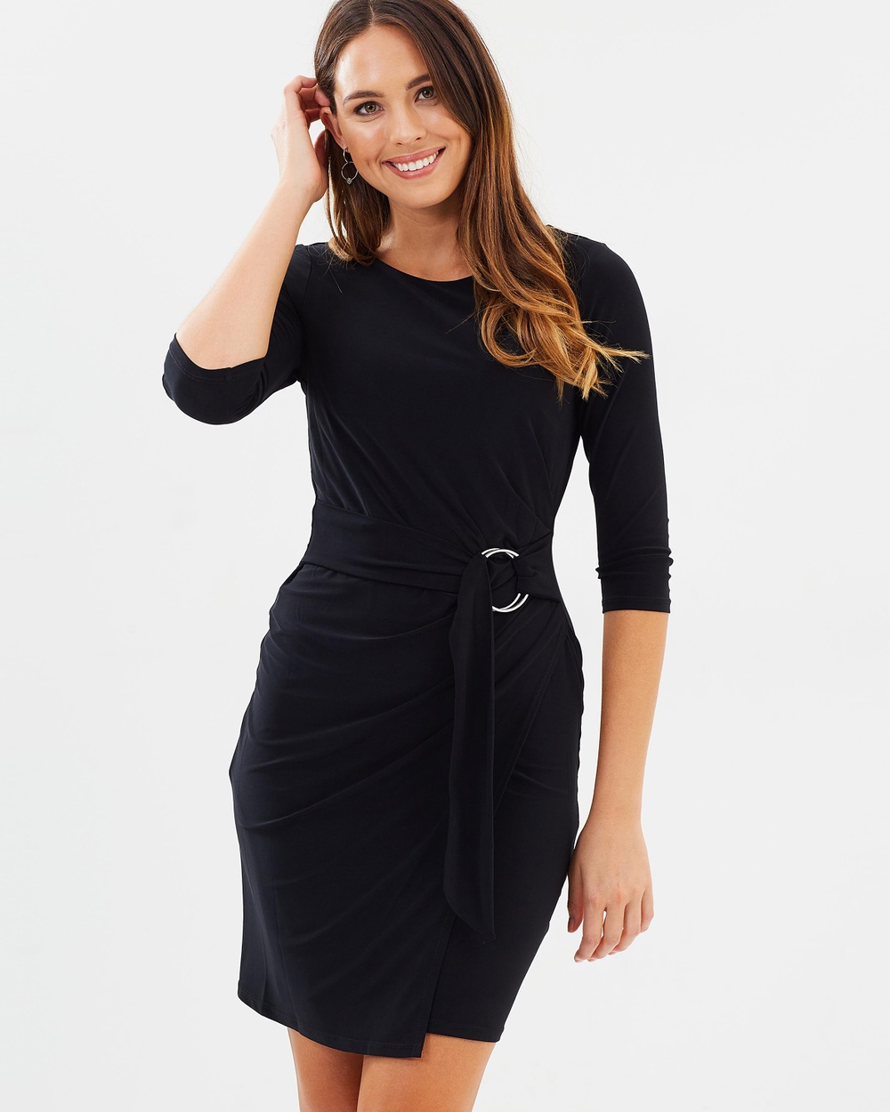 Wallis Ring Front Dress Dresses Black Ring Front Dress