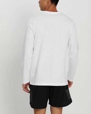 adidas Performance Cassette Tape Long Sleeve Tee - Long Sleeve T-Shirts (White)