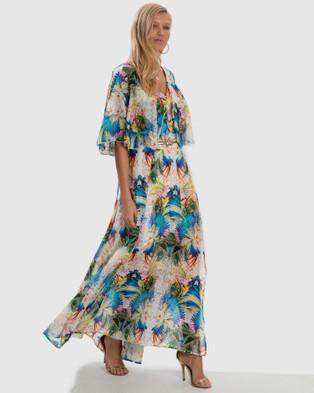 Aqua Blu Australia Odyssey Rhea Dress - Printed Dresses (Odyssey)
