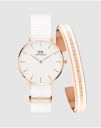 Daniel Wellington - Gift Set - Petite Dover 32mm + Slim Bracelet Satin Medium