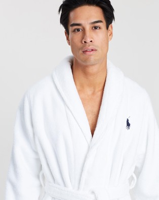 Polo Ralph Lauren Long Sleeve Shawl Robe - Accessories (White)
