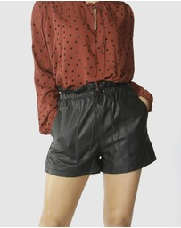 Fate + Becker - Jupiter Leather Shorts
