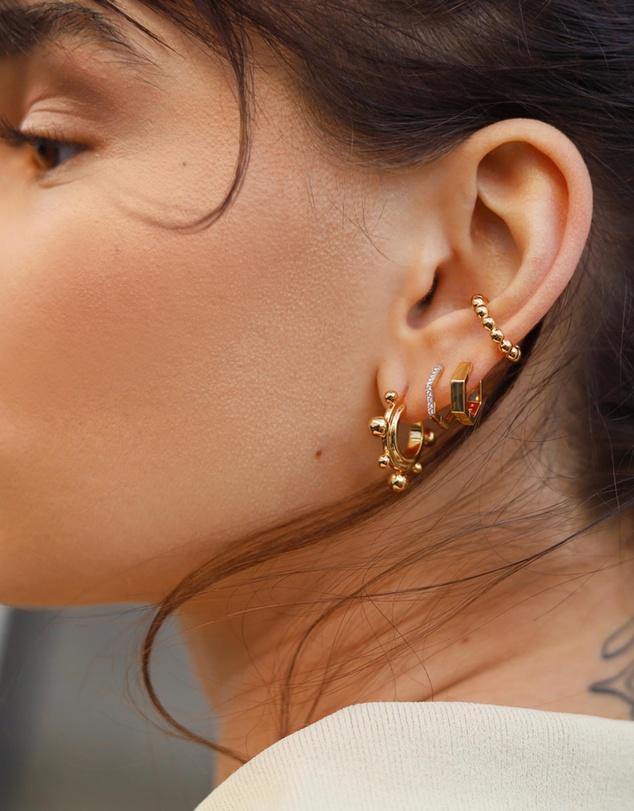 Women Sphere Small Hoop Earrings