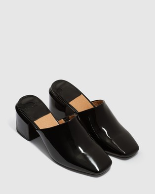 cherrichella Saxon Mules - Heels (Black)