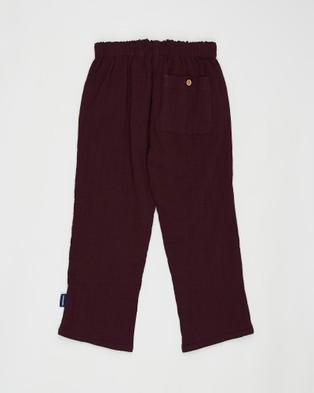 Pappe Sailor Lightweight Pants   Babies Kids - Pants (Dewberry)
