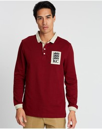 Kent and Curwen - Long Sleeve Rugby Polo