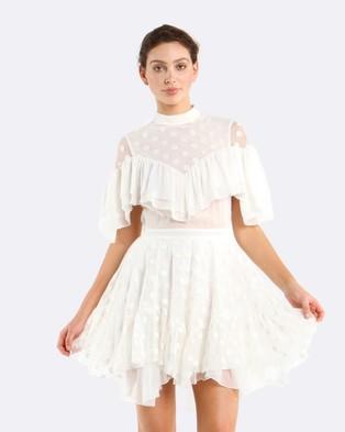 Coco Ribbon – Polka Face Dress White