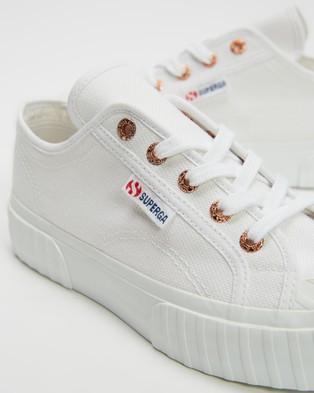 Superga 2630 Cotu   Women's - Sneakers (White & Rose Gold)
