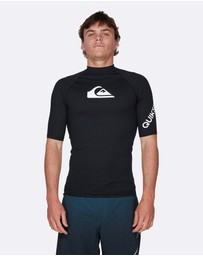 Quiksilver - Mens All Time Short Sleeve UPF 50 Rash Vest