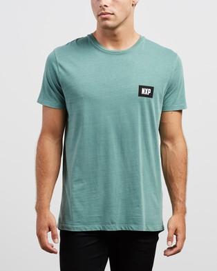 Nena & Pasadena Final Hours Scoop Back Tee - T-Shirts & Singlets (Pigment Teal)