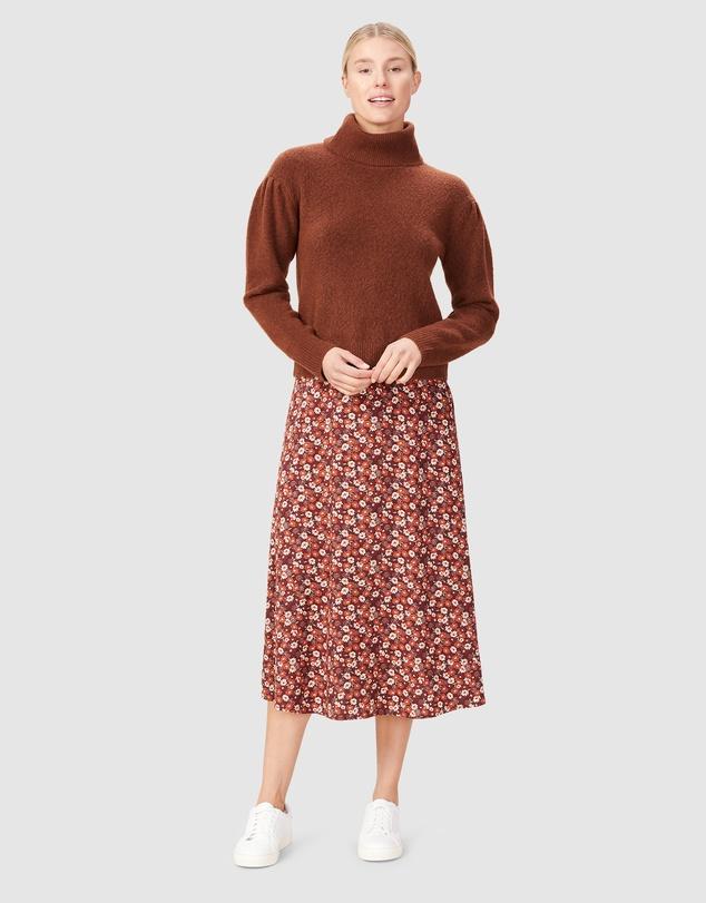 Women Seventies Floral Skirt