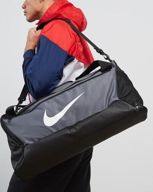 Nike Nike Brasilia Training Duffle Bag   Medium - Duffle Bags (Flint Grey, Black & White)