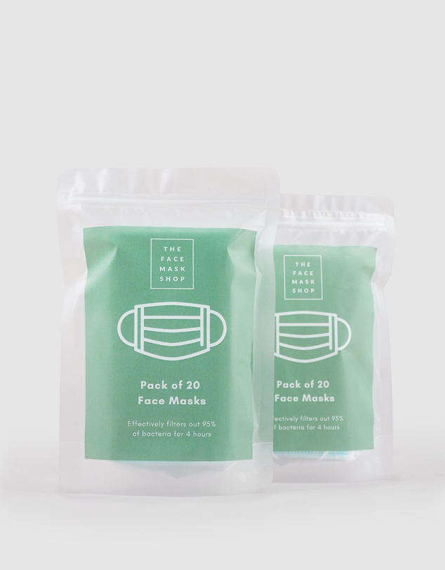 Amelius - 2 Packs of 20 Disposable Face Masks