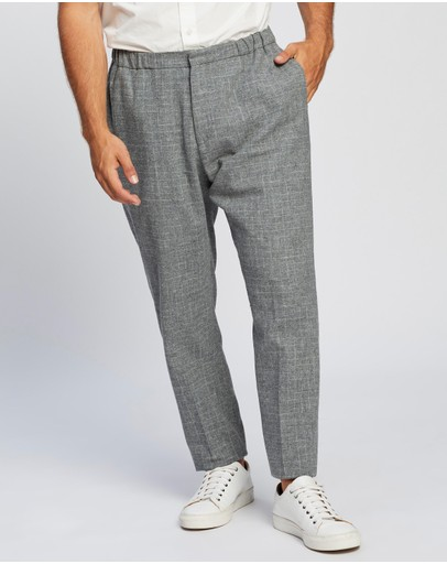 Ben Sherman - Light Grey Broken Check Trousers