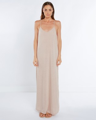 Tee Ink – Striped Singlet Maxi Dress – Dresses (Nude)