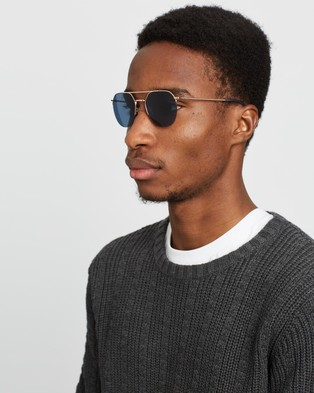 Local Supply RAILWAY - Sunglasses (Polished Rose Gold)
