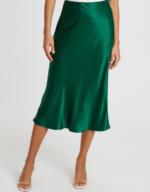 Damsel + Silk - Core Slip Midi Skirt