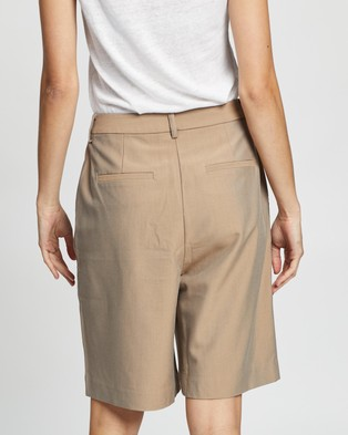 Elka Collective Lucini Shorts - High-Waisted (Taupe)