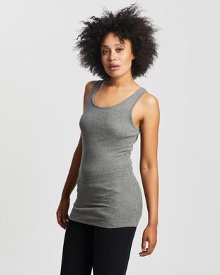 Australia Sweaty Betty Mantra Yoga Vest - Muscle Tops (Charcoal)