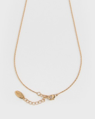 Orelia London Gold Plated J Initial Necklace - Jewellery (Pale Gold J)