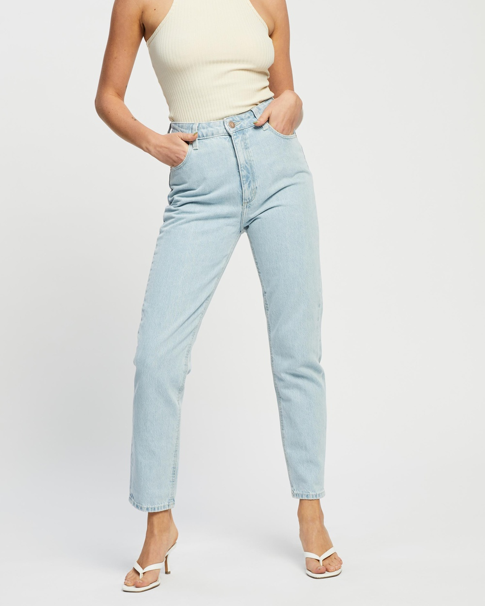 Abrand ICONIC EXCLUSIVE A '94 High Slim Jeans Daisy Blue & Clean