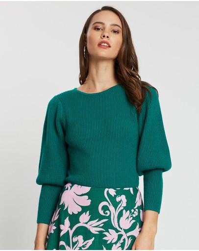 Keepsake The Label Cheerful Knit Top Jade