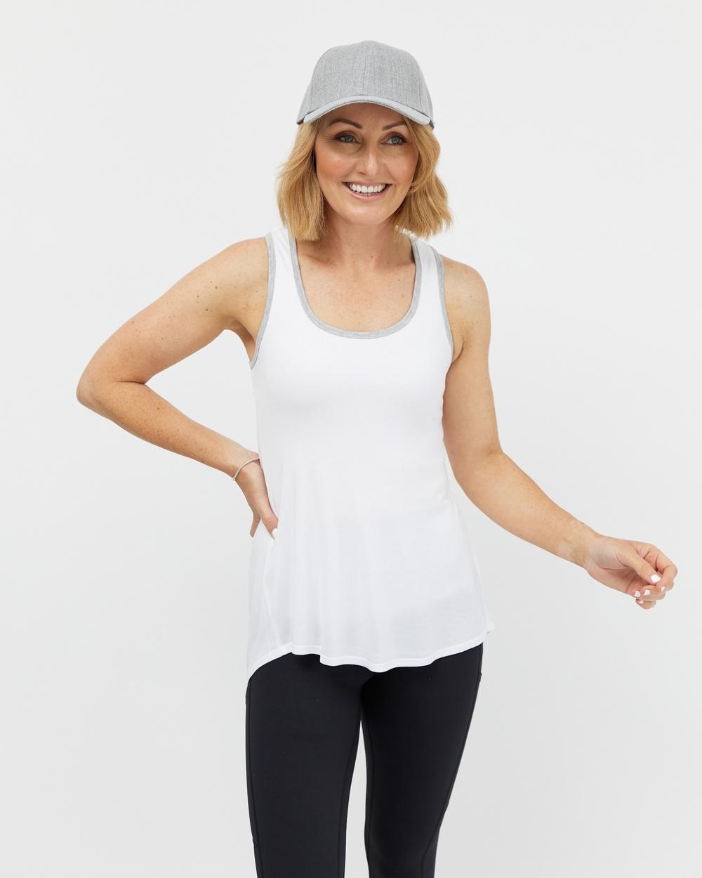 Avila Tie and Go Singlet T-Shirts & Singlets White Australia