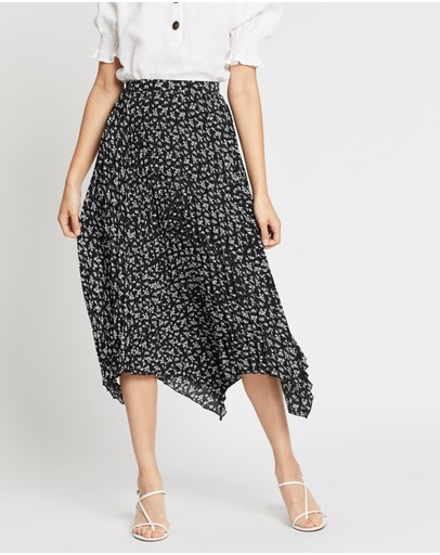 Mvn Eight Miles Pleated Skirt Black