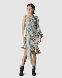 LEO & LIN - Verde Silk Knotted Dress
