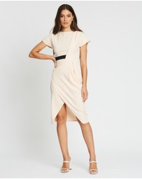 Boohoo - Wrap Side Detail Midi Dress