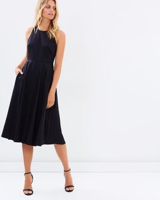Marcs – Numero Uno Cotton Sheen Dress – Dresses (BLACK)