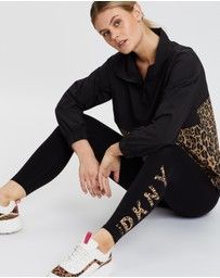 DKNY - High-Waisted 7/8 Logo Leggings