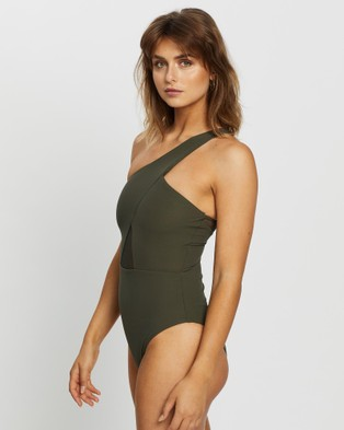 JETS Conspire One Shoulder One Piece - One-Piece / Swimsuit (Khaki)