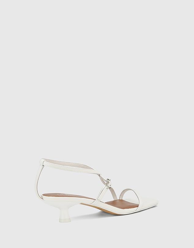 Women Jenelle Leather Kitten Heel Sandals