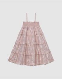 Designer Kidz - Lurex Shirred Dress