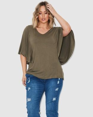 17 Sundays Drape Jersey Top - T-Shirts & Singlets (Green)