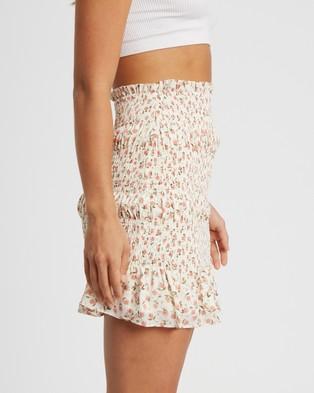 Savel Etta Mini Skirt - Skirts (Blush Tulips)