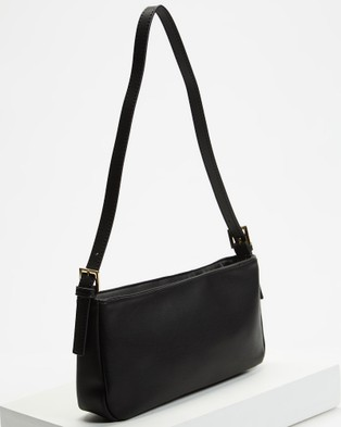 PETA AND JAIN Patience Shoulder Bag - Clutches (Black PU)