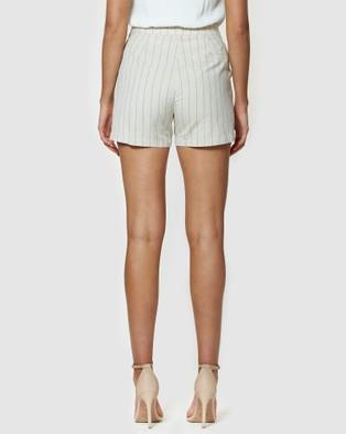 Amelius Honour Pinstripe Shorts Multi
