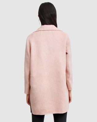Belle & Bloom Ex Boyfriend Wool Blend Oversized Coat - Coats & Jackets (Pink)