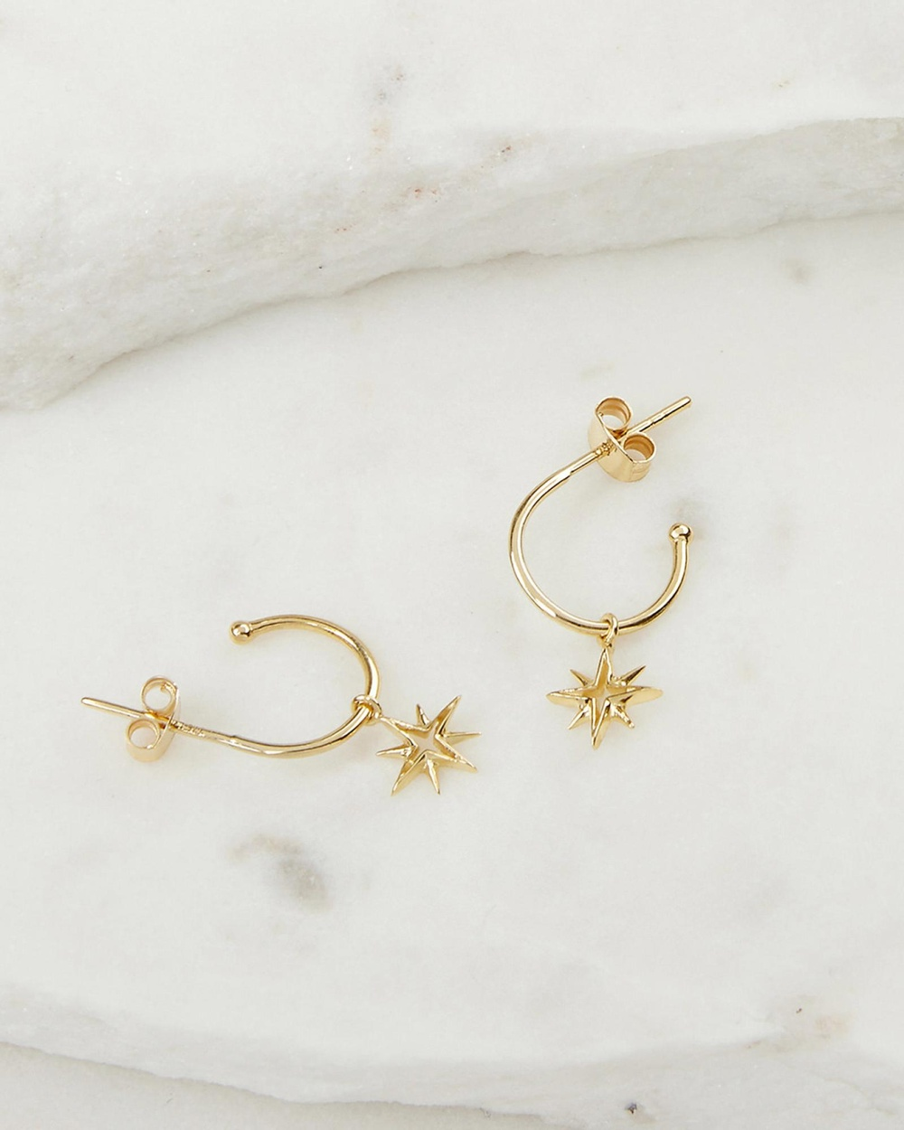 Luna Rae Solid Gold My True North Earrings Jewellery Gold