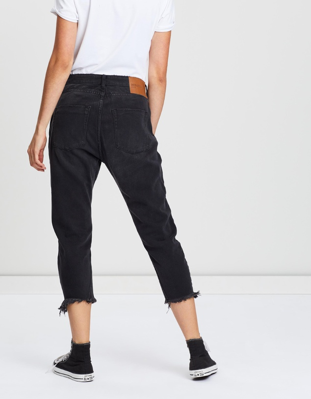 ONETEASPOON - Eagles Cropped Boyfriend Jeans