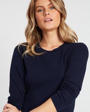 Sportscraft Organic Cotton Long Sleeve Tee - T-Shirts & Singlets (blue)