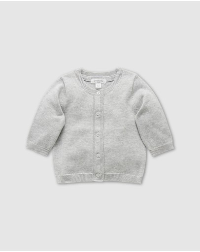 Purebaby - Cotton Basic Cardigan - Babies