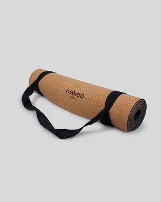 Naked Soul Cork Yoga Mat - Gym & Yoga (Brown)
