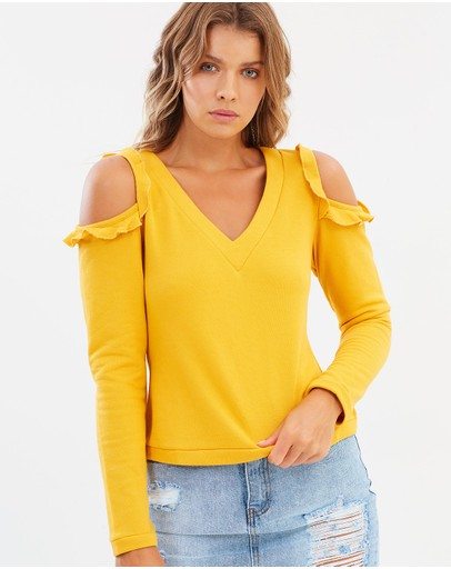 Atmos&Here - ICONIC EXCLUSIVE - Chiara Cold Shoulder Top