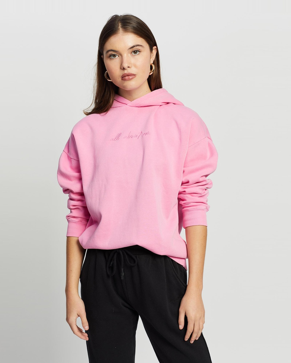 All About Eve Delux Oversized Hoodie Hoodies ROSE
