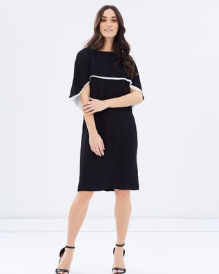 Faye Black Label – Signature Cape Dress