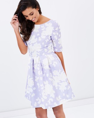 Chi Chi London – The Sarah Dress – Dresses (Lilac)